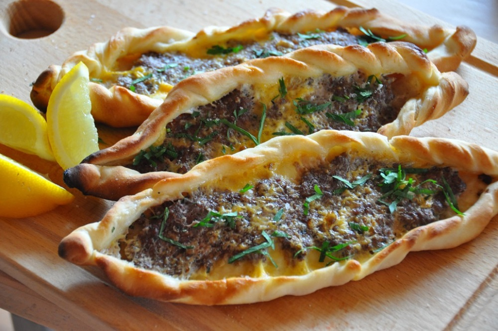 Traditional Turkish flat bread called Pide