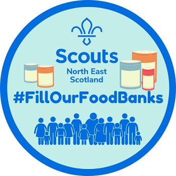 North East Scotland Scouts #FillOurFoodbanks logo
